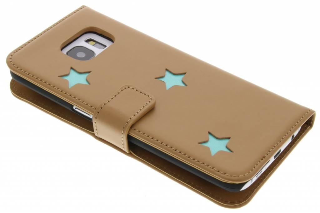 Fab. Aqua Reversed Star Booktype voor de Samsung Galaxy S7 Edge