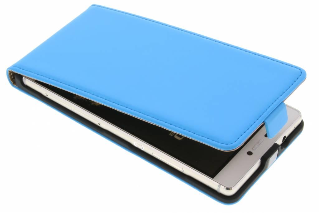 Premium flipcase voor de Huawei P8 Light Blue