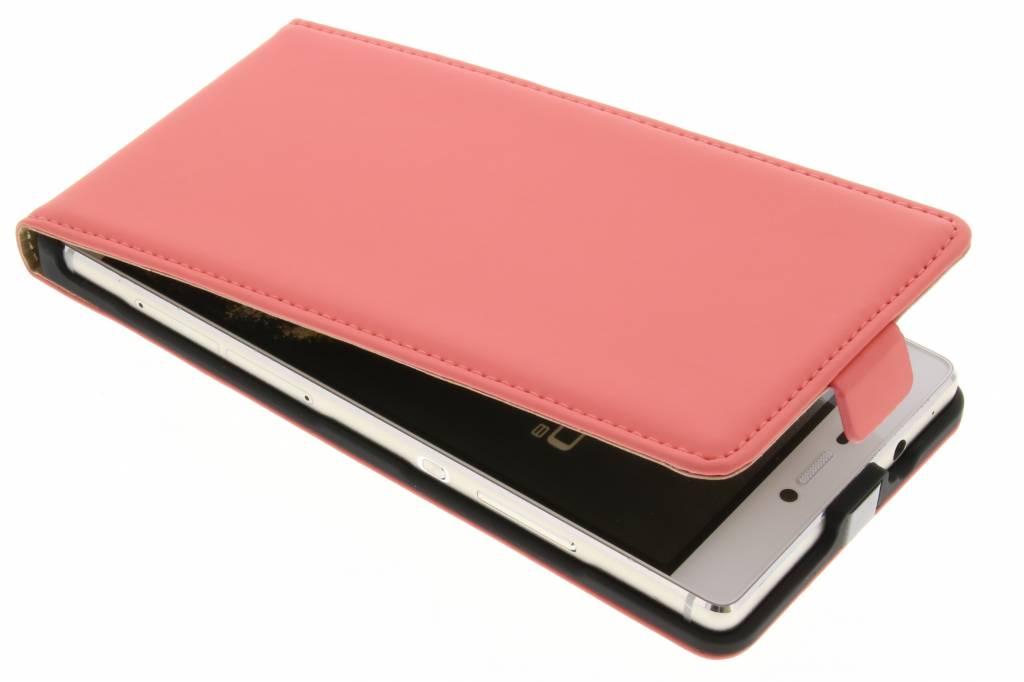 Mobiparts Premium flipcase voor de Huawei P8 - Peach Pink