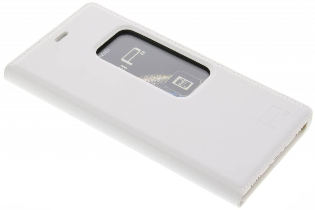 Witte slim booktype met venster voor de Huawei P8
