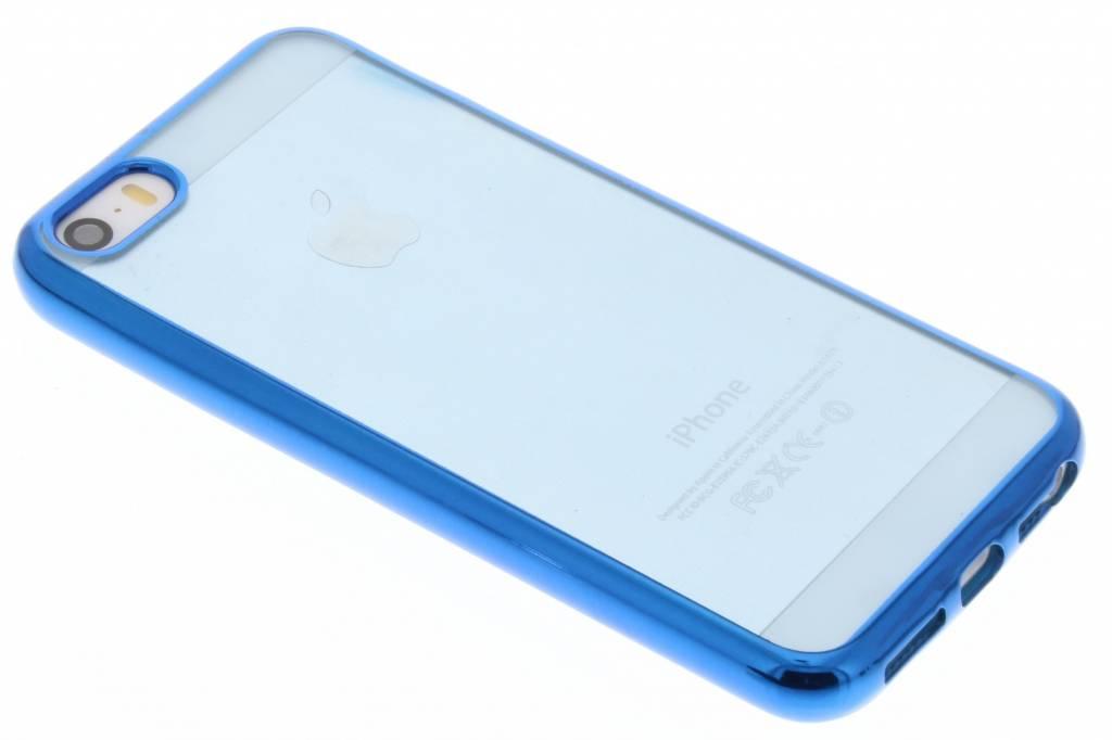 Blauw TPU hoesje met metallic rand voor de iPhone 6 / 6s