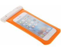 Oranje universele waterproof case maat M