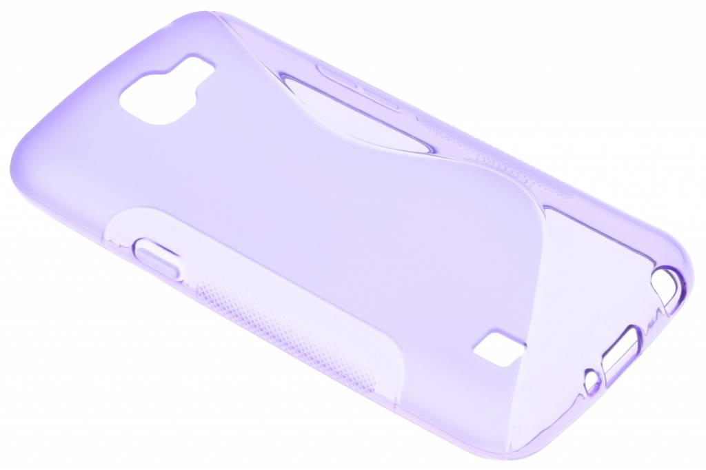 Paars S-line TPU hoesje voor de LG K4