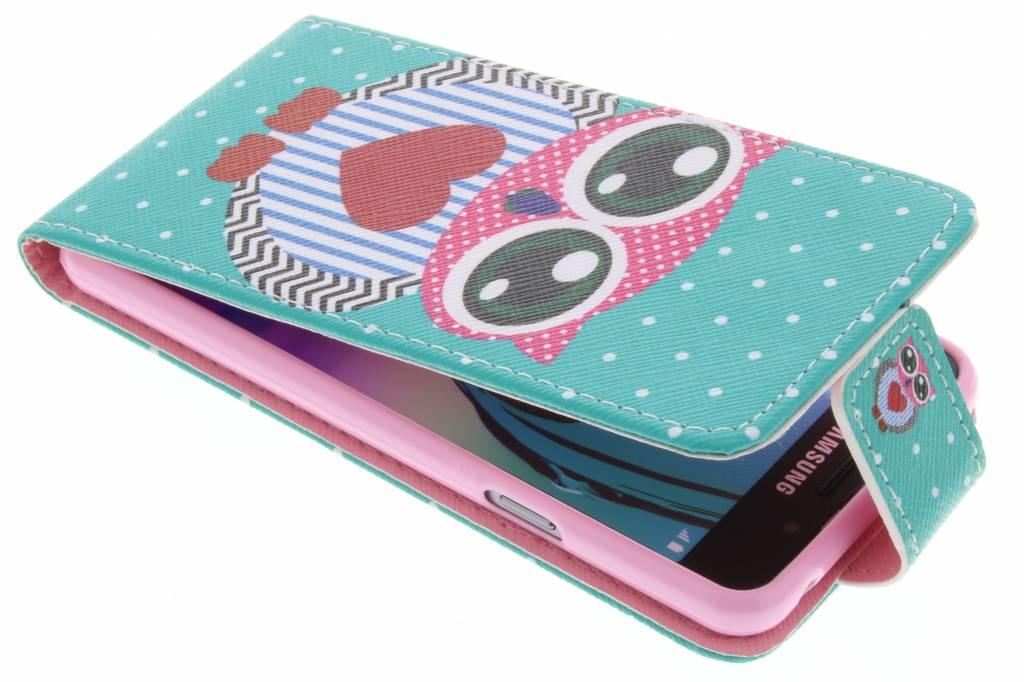 Uil design TPU flipcase voor de Samsung Galaxy A3 (2016)