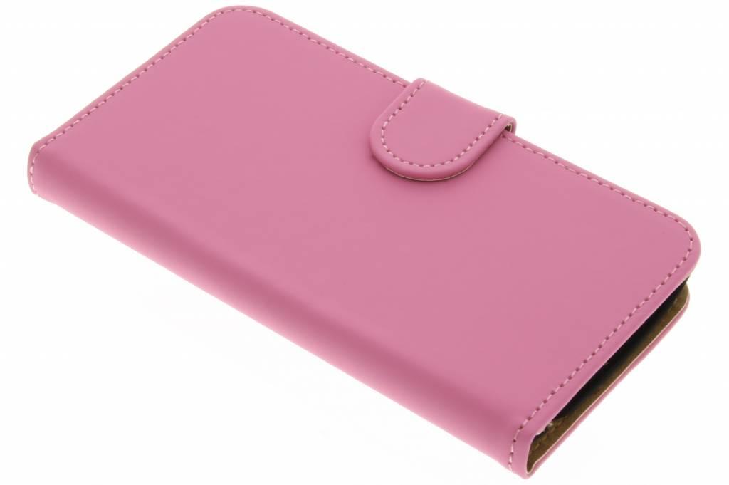 Roze effen booktype hoes voor de LG K4