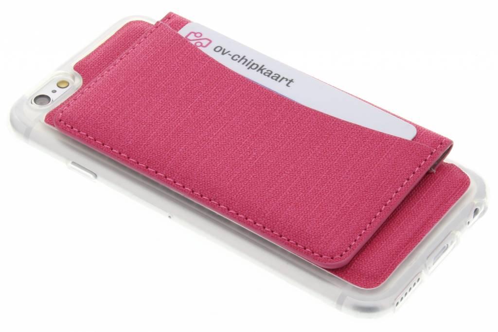 Fuchsia TPU hoesje met pasjeshouder voor de iPhone 6 / 6s