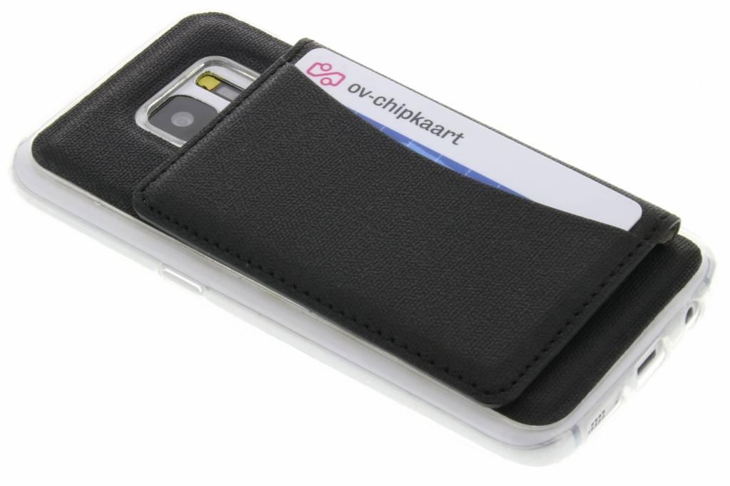 Zwart TPU hoesje met pasjeshouder voor de Samsung Galaxy S7