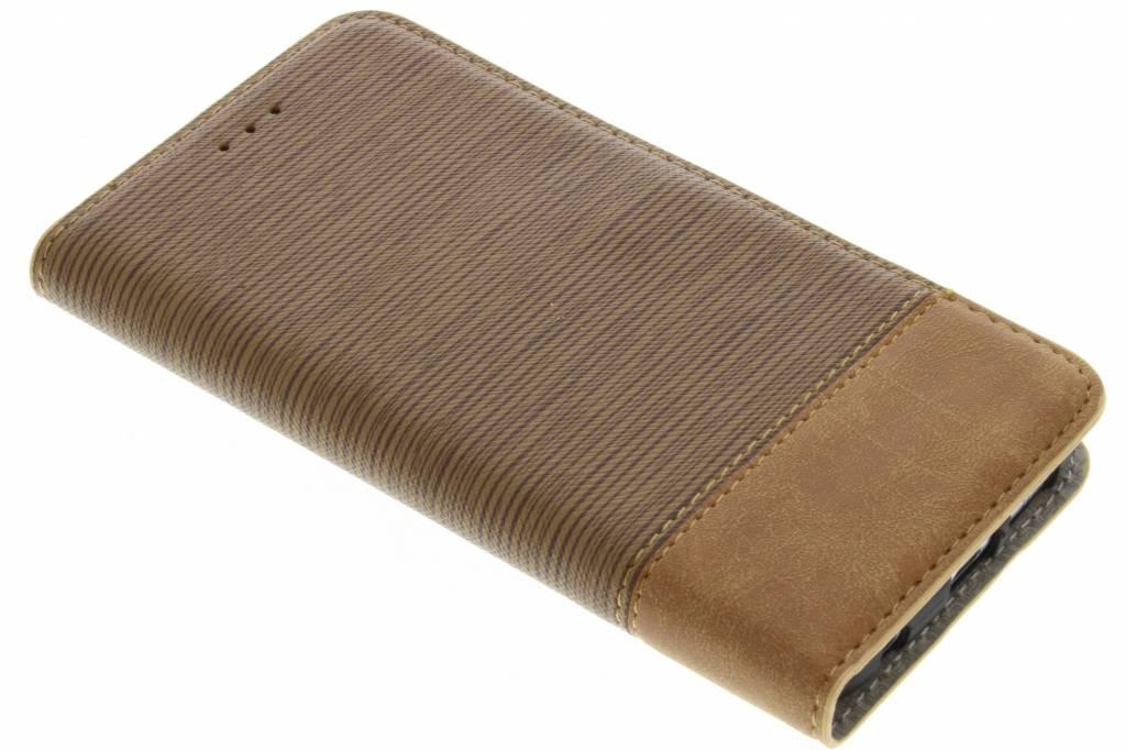 Bruine denim look booktype hoes voor de Samsung Galaxy S7 Edge