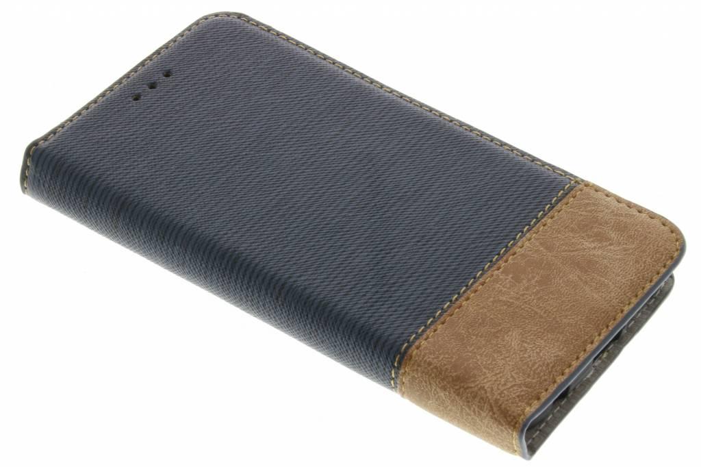 Donkerblauwe denim look booktype hoes voor de Samsung Galaxy S7 Edge