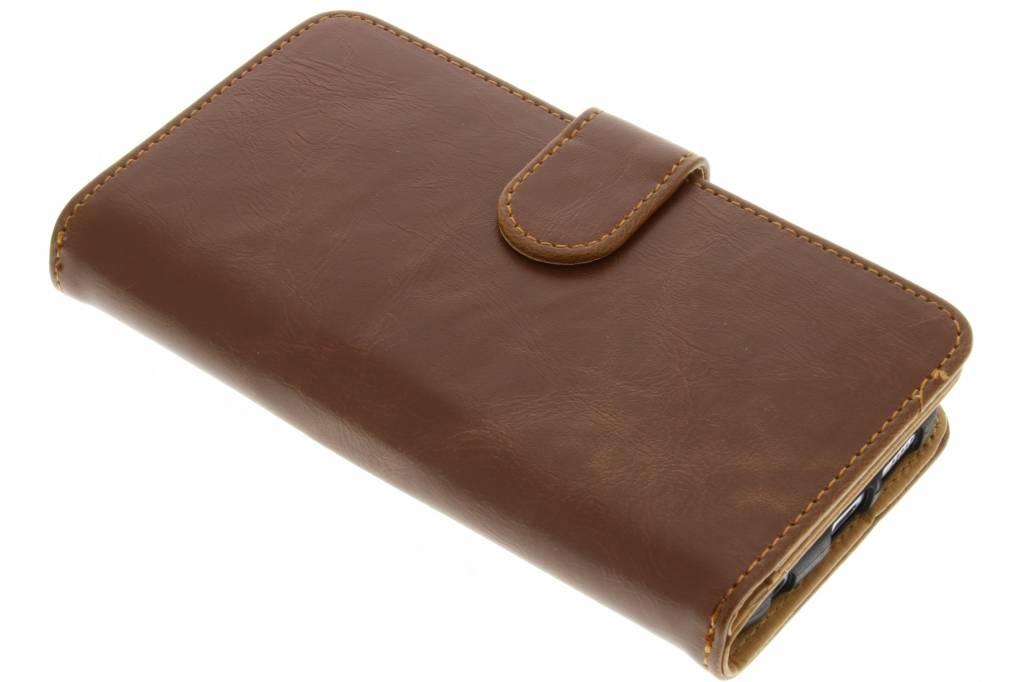 Lichtbruine 17-vaks wallet case voor de Samsung Galaxy S7 Edge