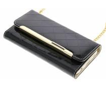 Zwart glossy portemonnee hoesje Galaxy S7 Edge