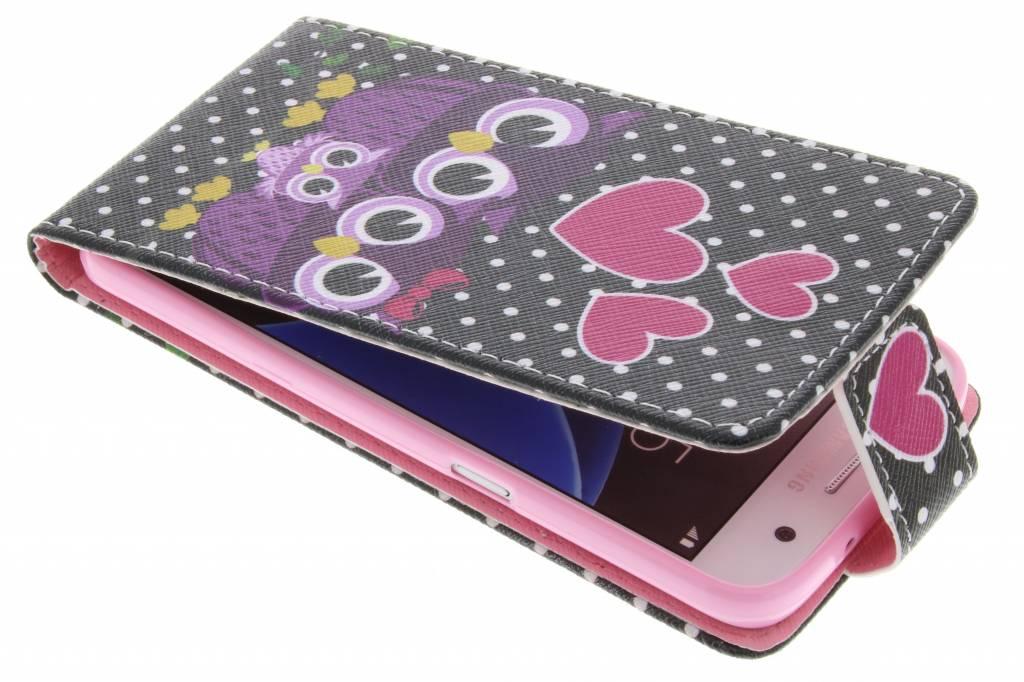 Uiltjes design TPU flipcase voor de Samsung Galaxy S7