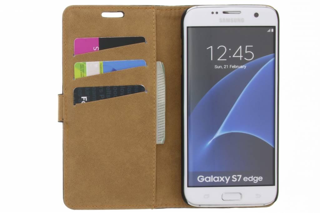 Livre Noir Kreukelleder Type Cas Pour Samsung Galaxy S7 hY6v5