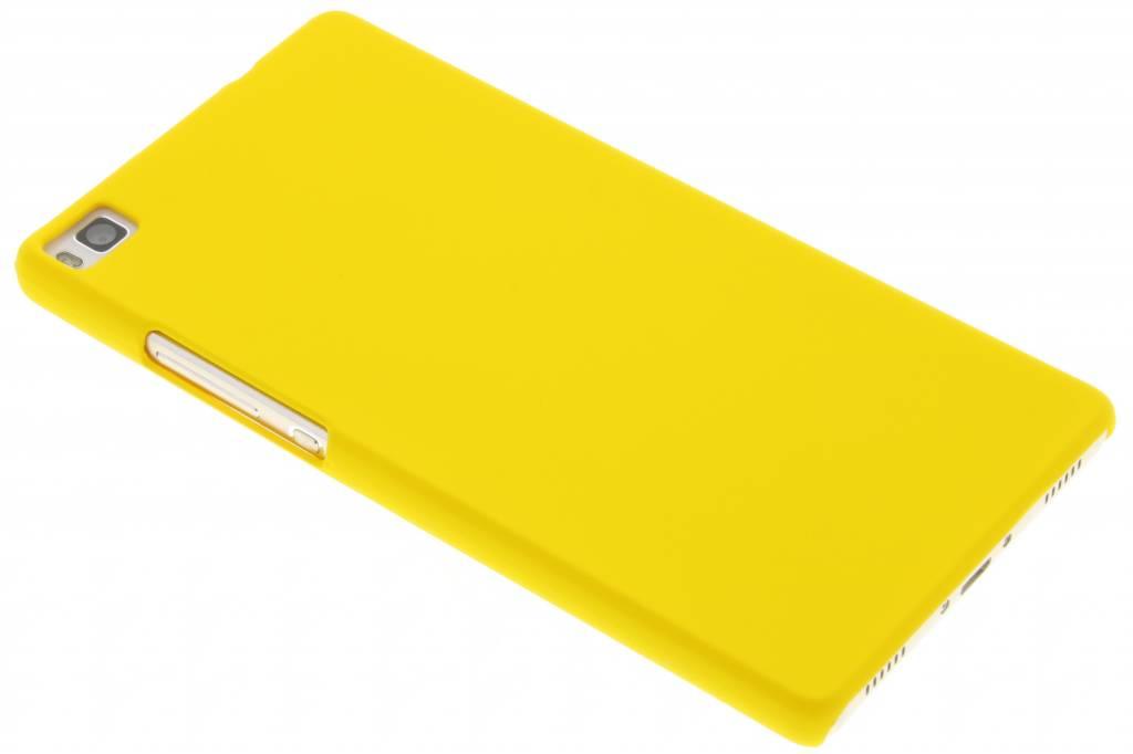 Geel effen hardcase hoesje voor de Huawei P8