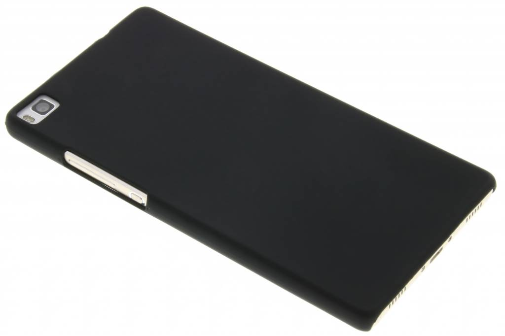 Zwart effen hardcase hoesje voor de Huawei P8