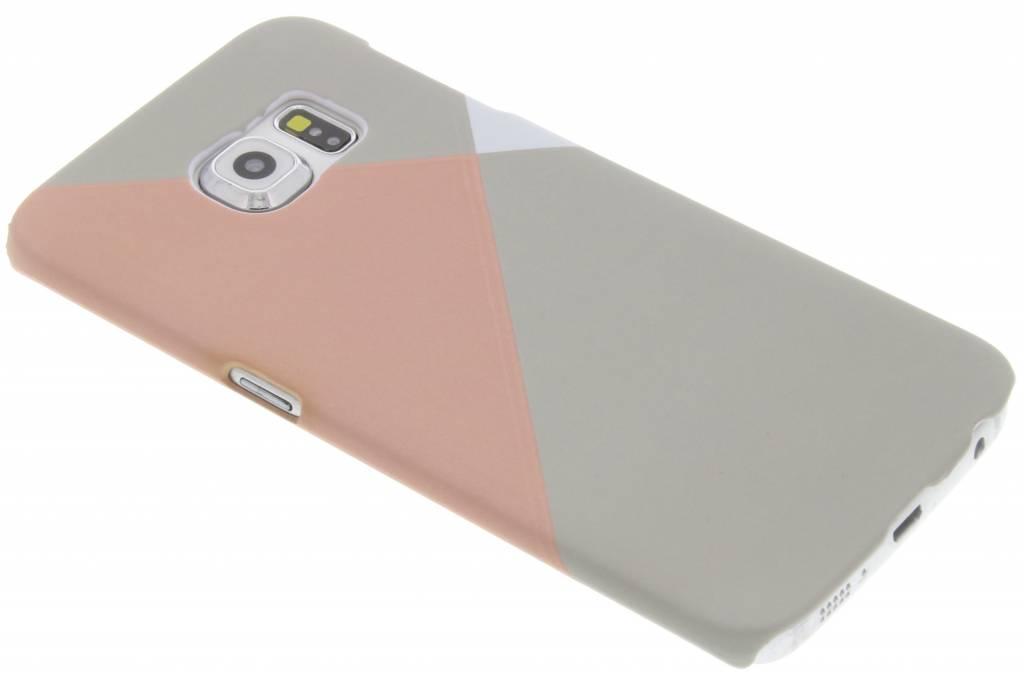 Pastelkleurig vlakken design hardcase hoesje voor de Samsung Galaxy S6 Edge