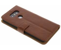 Kastanjebruin kreukelleder booktype hoes LG G5 (SE)