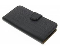 Zwart krokodil booktype hoes LG K4