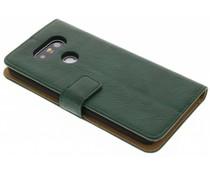 Groen kreukelleder booktype hoes LG G5