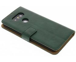 Groen kreukelleder booktype hoes LG G5 (SE)