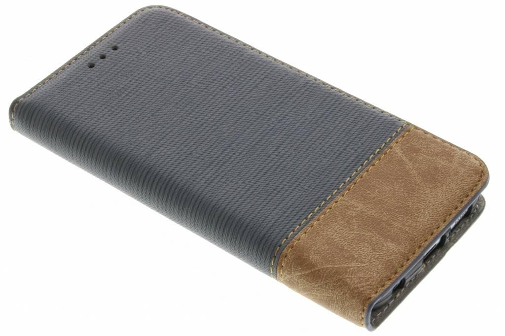 Grijs denim look booktype hoes voor de Samsung Galaxy S6