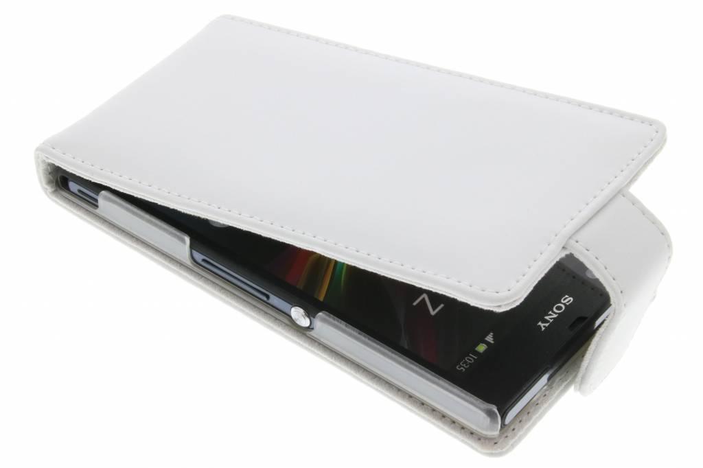 Witte stijlvolle flipcase voor de Sony Xperia Z