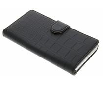 Zwart krokodil booktype hoes Microsoft Lumia 650