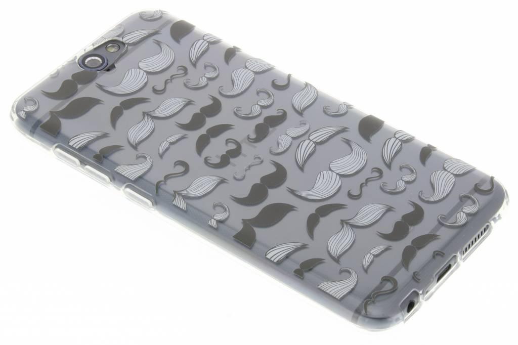 Mustache design TPU siliconen hoesje voor de HTC One A9