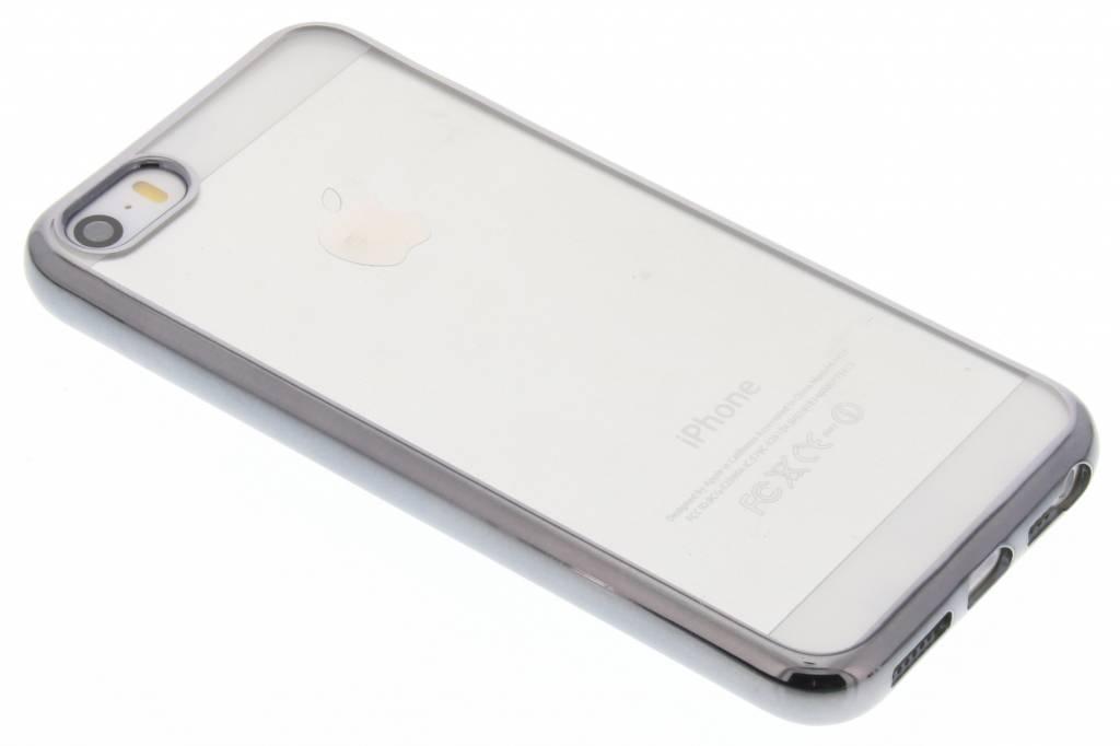 Grijs TPU hoesje met metallic rand voor de iPhone 5 / 5s / SE