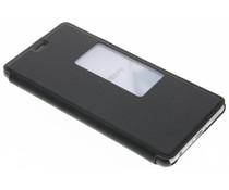 Zwart slim booktype met venster Huawei P9