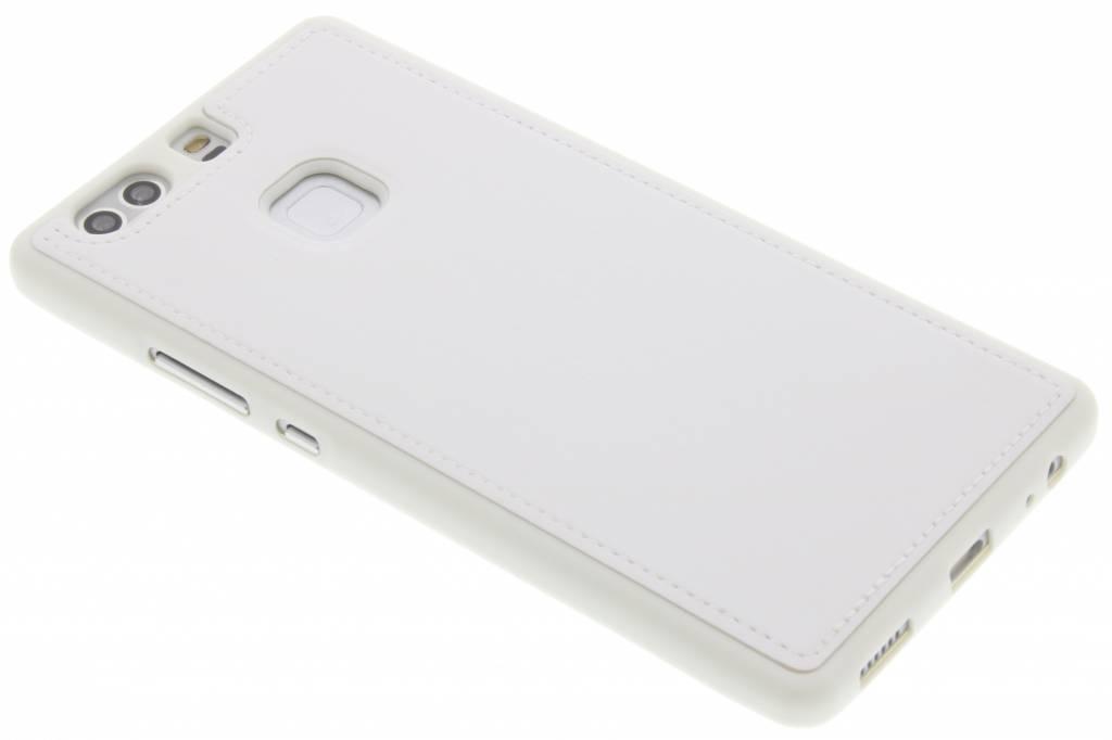 Witte lederen TPU case voor de Huawei P9 Plus
