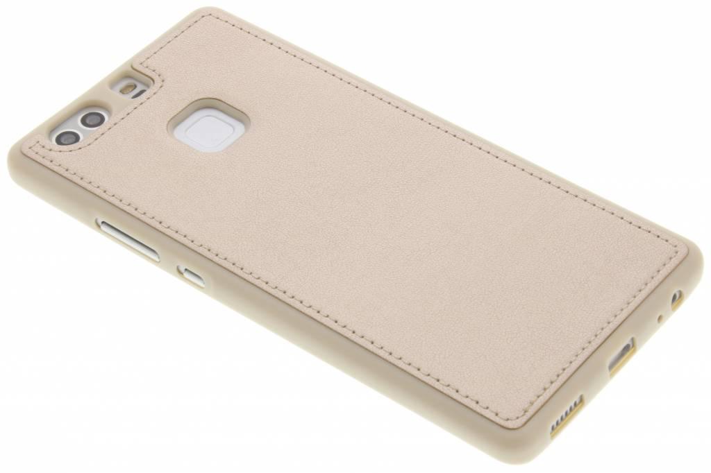 Gouden metallic lederen TPU case voor de Huawei P9 Plus