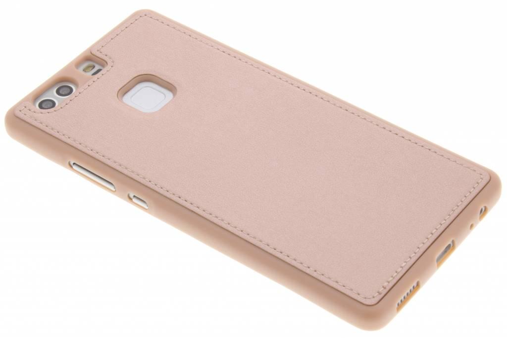 Roze metallic lederen TPU case voor de Huawei P9 Plus