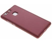 Rood metallic lederen TPU case Huawei P9 Plus