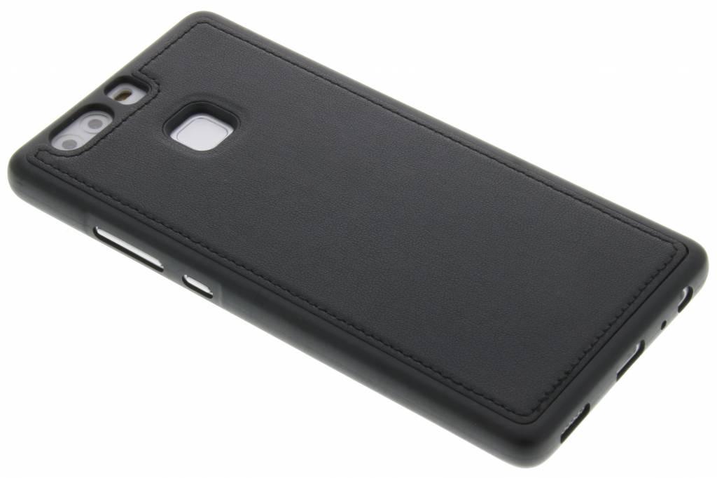 Zwarte lederen TPU case voor de Huawei P9