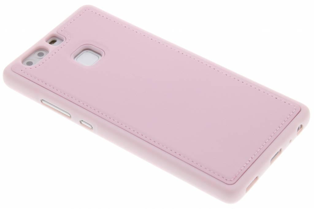 Roze lederen TPU case voor de Huawei P9