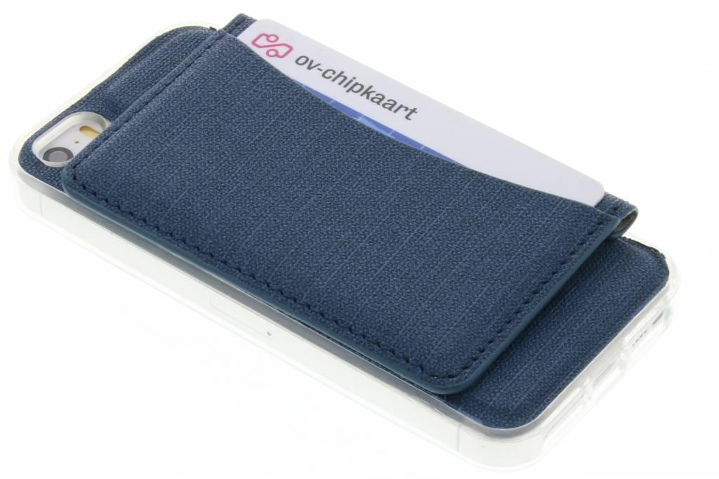 Blauw TPU hoesje met pasjeshouder voor de iPhone 5 / 5s / SE