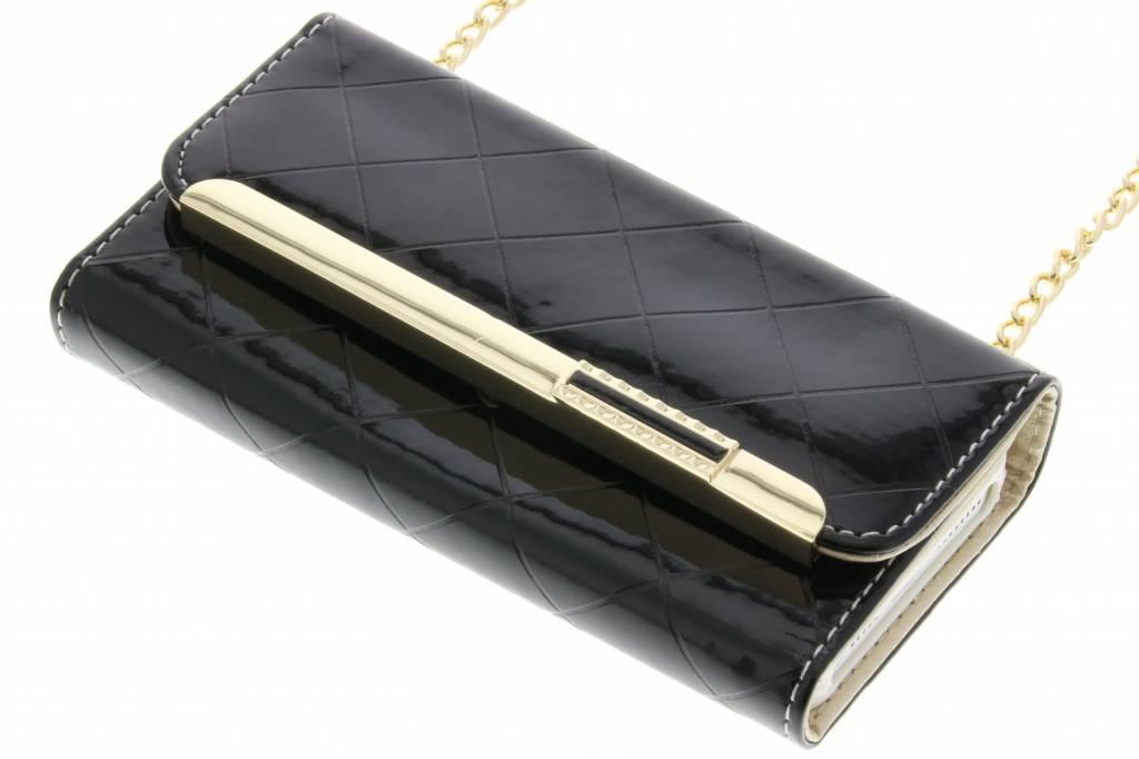 Zwart glossy portemonnee hoesje voor de iPhone 5 / 5s / SE