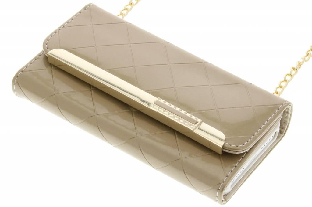 Goud glossy portemonnee hoesje voor de iPhone 5 / 5s / SE