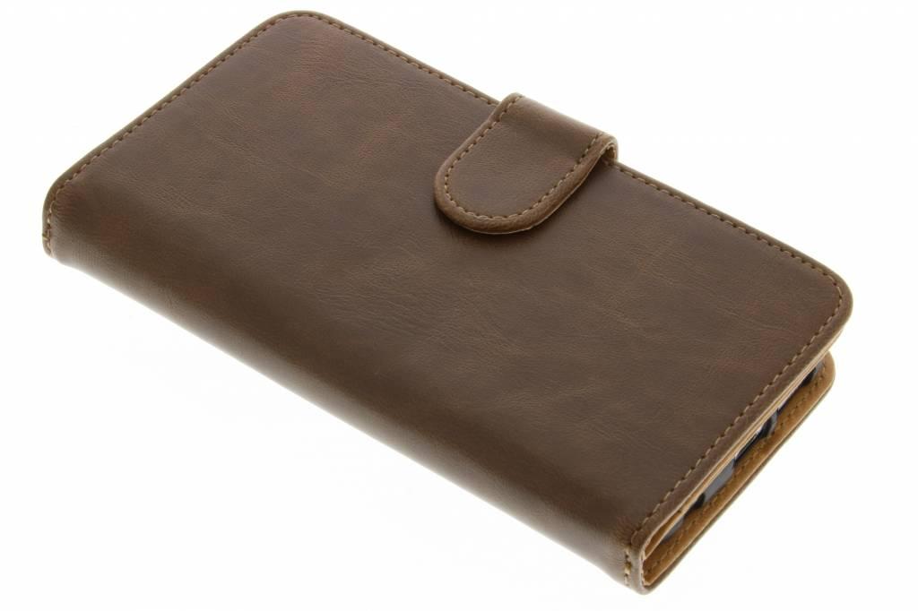 Bruine 11-vaks wallet case voor de Samsung Galaxy S6 Edge