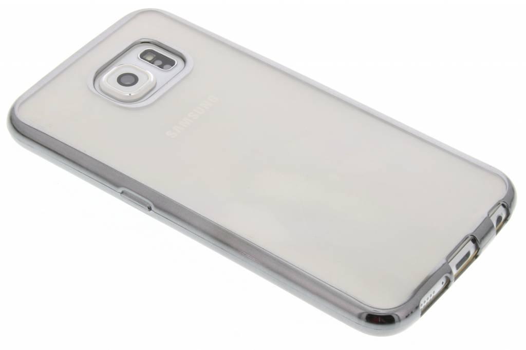 Grijs TPU hoesje met metallic rand voor de Samsung Galaxy S6