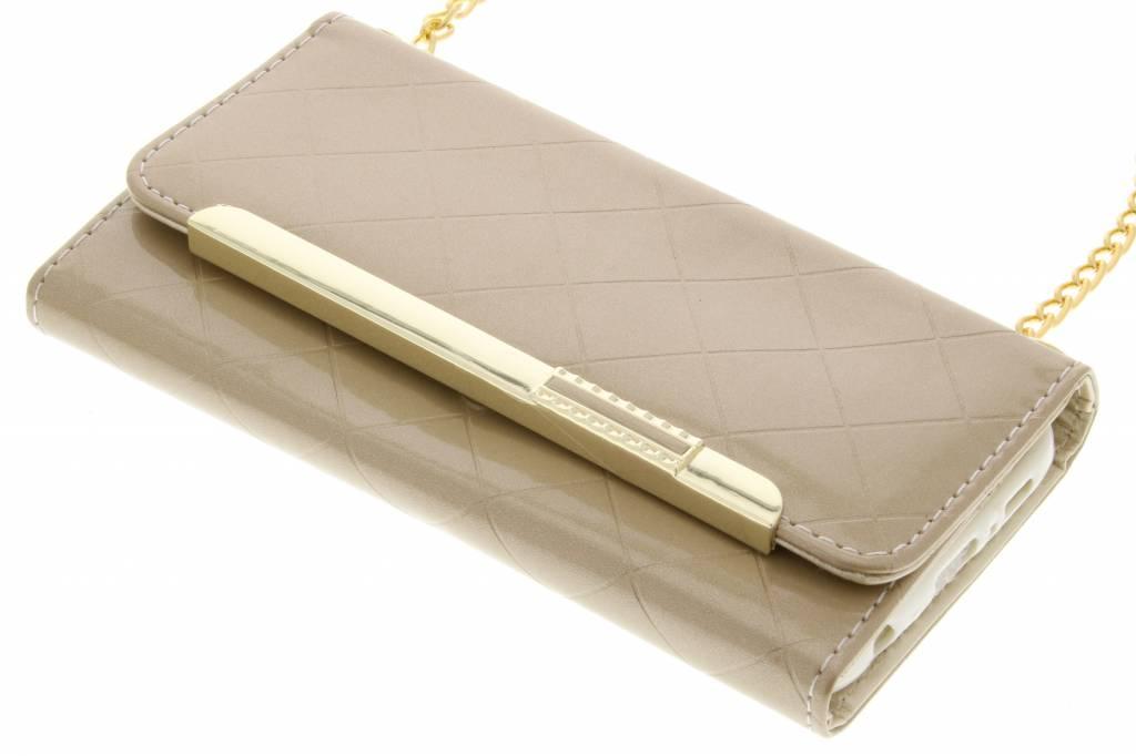 Goud glossy portemonnee hoesje voor de Samsung Galaxy S7