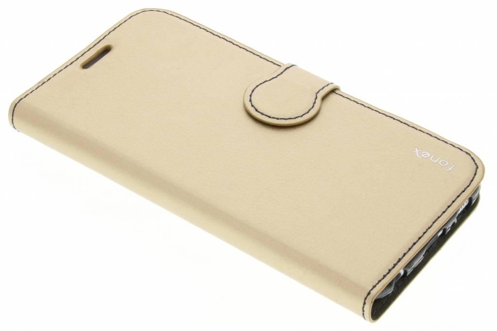 Fonex Identity Bookcase voor de Samsung Galaxy S6 - Goud