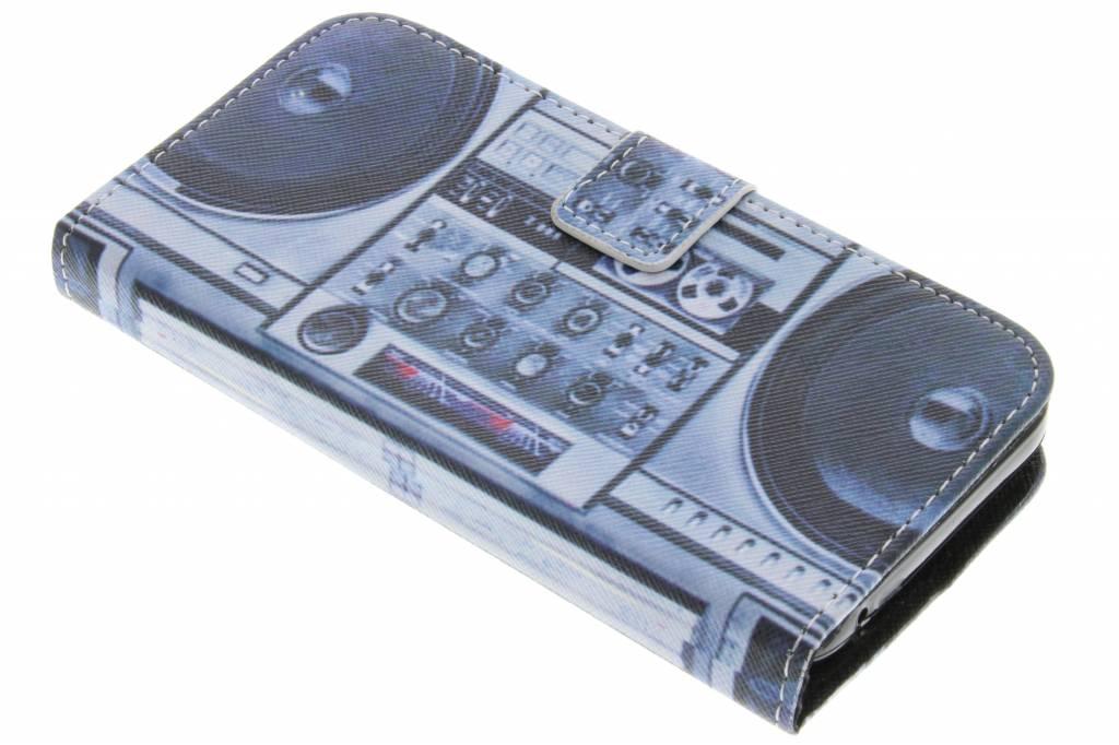 Radio design TPU booktype hoes voor de Huawei Y5