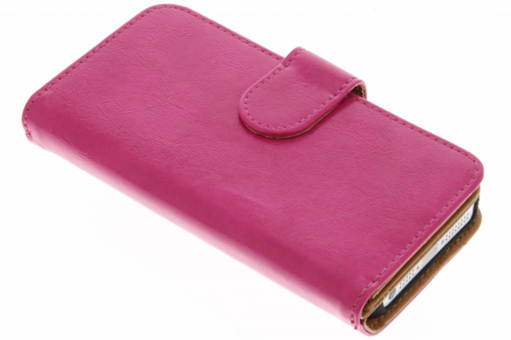 Fuchsia 11-vaks wallet case voor de iPhone 5 / 5s / SE