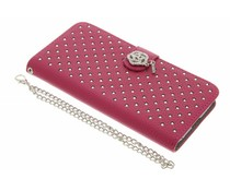 Fuchsia chique strass booktype hoes LG G5 (SE)