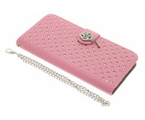 Roze chique strass booktype hoes LG G5 (SE)