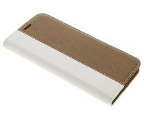 Wit hout leder design booktype hoes LG G5 (SE)