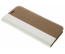 Wit hout leder design booktype hoes LG G5