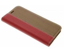 Rood hout leder design booktype hoes LG G5 (SE)